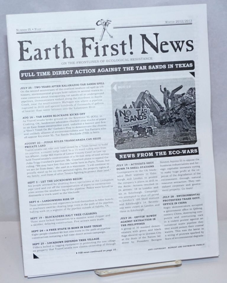 Earth First! News: On the Frontlines of Ecological Resistance; Number IX, Yule, Winter 2012/2013