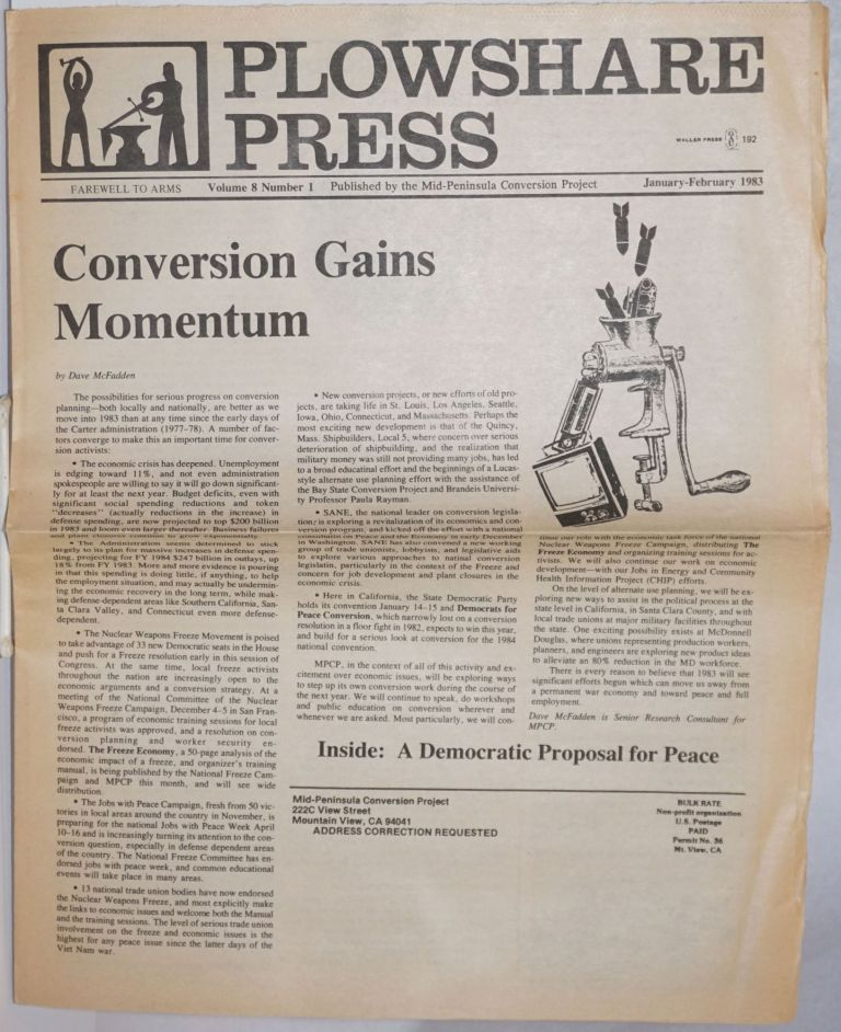 Plowshare Press; Volume 8 Number 1, January-February 1983