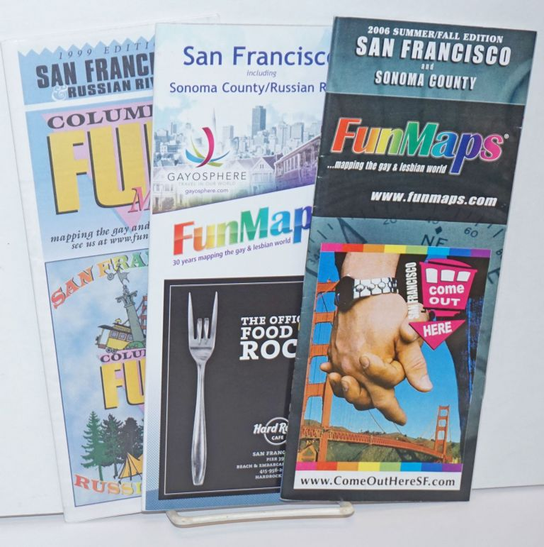 Columbia FunMaps: San Francisco & Sonoma County/Russian River three maps;1999 edition, 2006 edition and 2014 edition