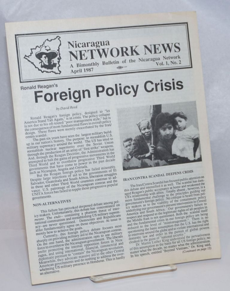 Nicaragua Network News: A Bimonthly Bulletin of the Nicaragua Network; Vol. 1 No. 2, April 1987
