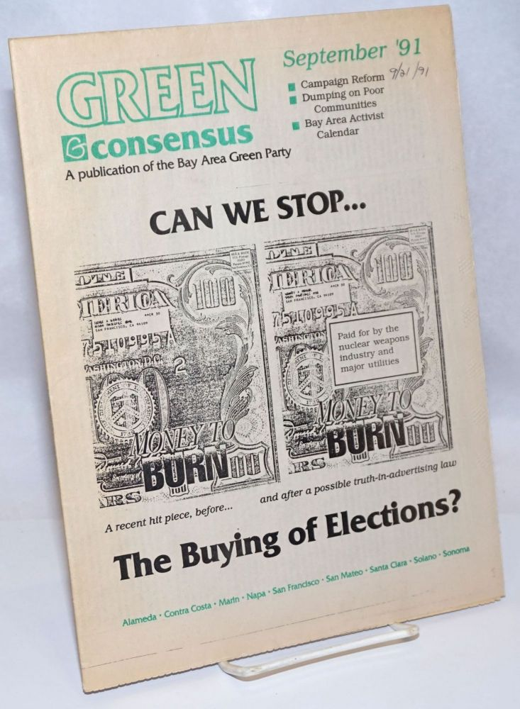 Green Consensus: A Publication of the Bay Area Green Party; August/September 1994