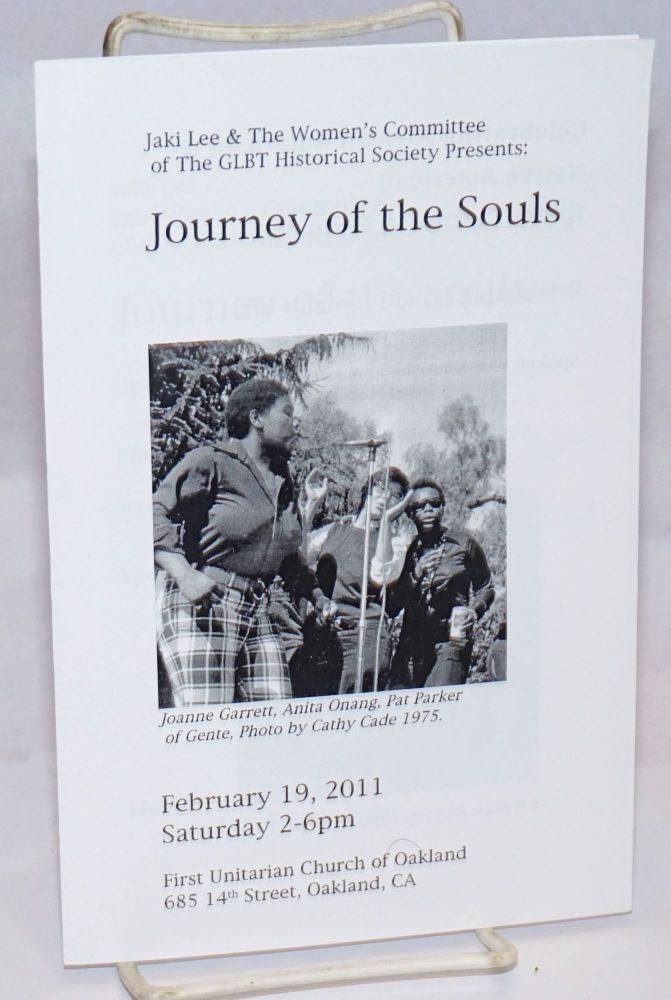 Jaki Lee & the Women's Committee of the GLBT Historical Society presents: Journey of the Souls [playbill] February 19, 2011