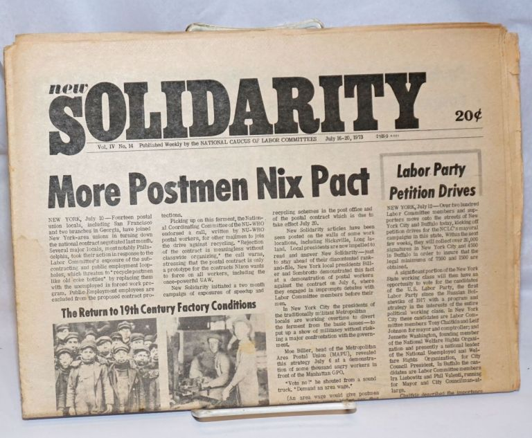 New solidarity. Vol. 4, no. 14 (July 16-20, 1973). National Caucus of Labor Committees.