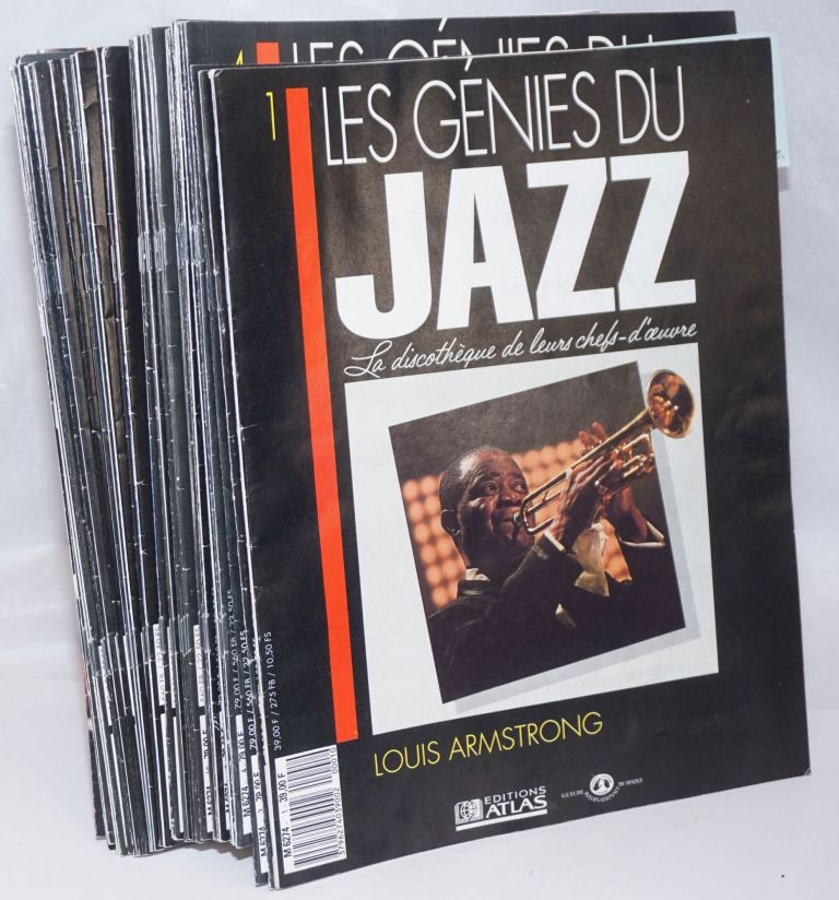 Les Genies du Jazz, La discotheque de leurs chefs-d'oeuvre; nos. 1-14, 19-24, 33-38, 40-50, plus two (2) unnumbered issues [totaling 39 unduplicated issues]