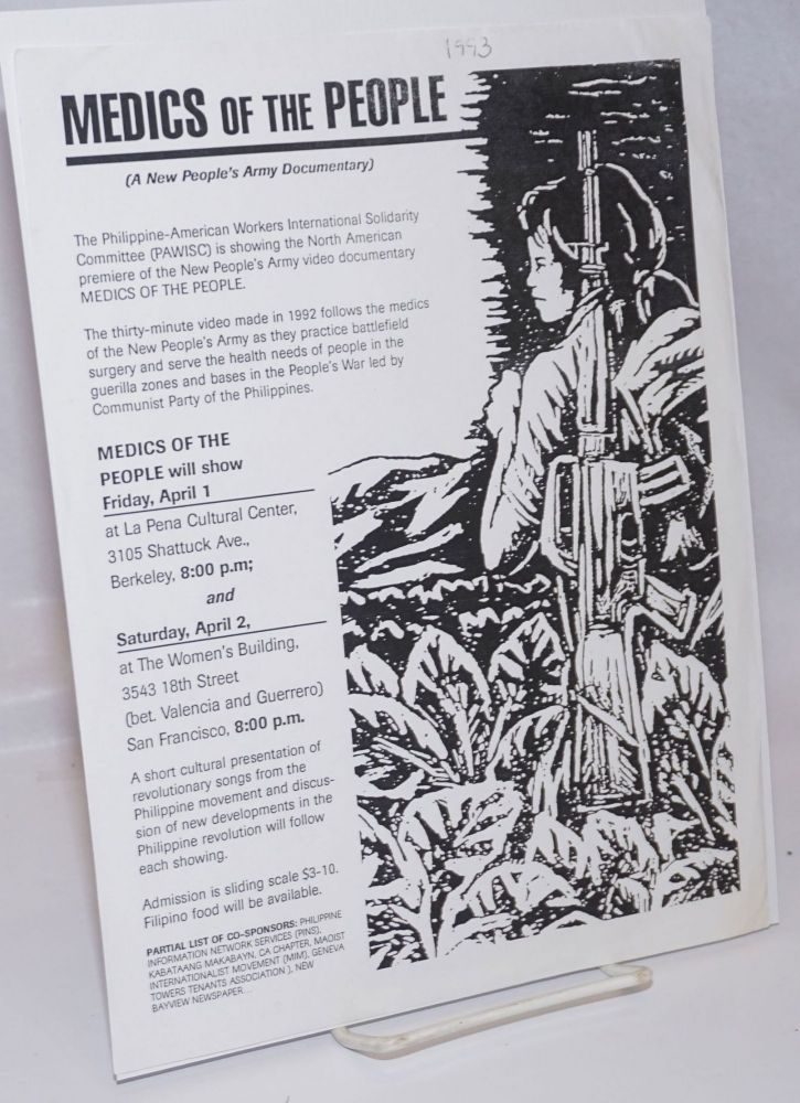Medics of the People (a New People's Army Documentary) [handbill]