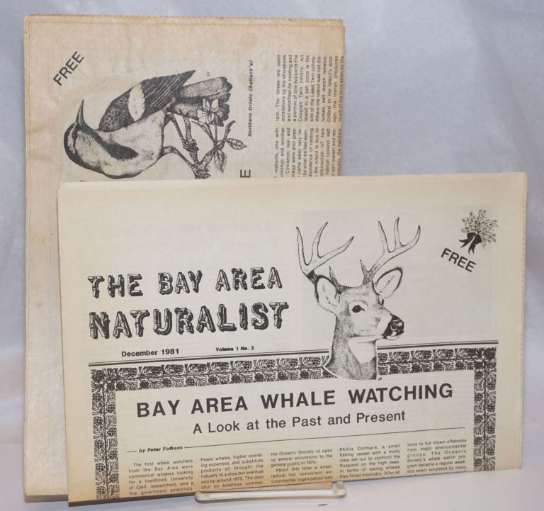 The Bay Area Naturalist [vol. 1 nos. 2 and 7, two issues]