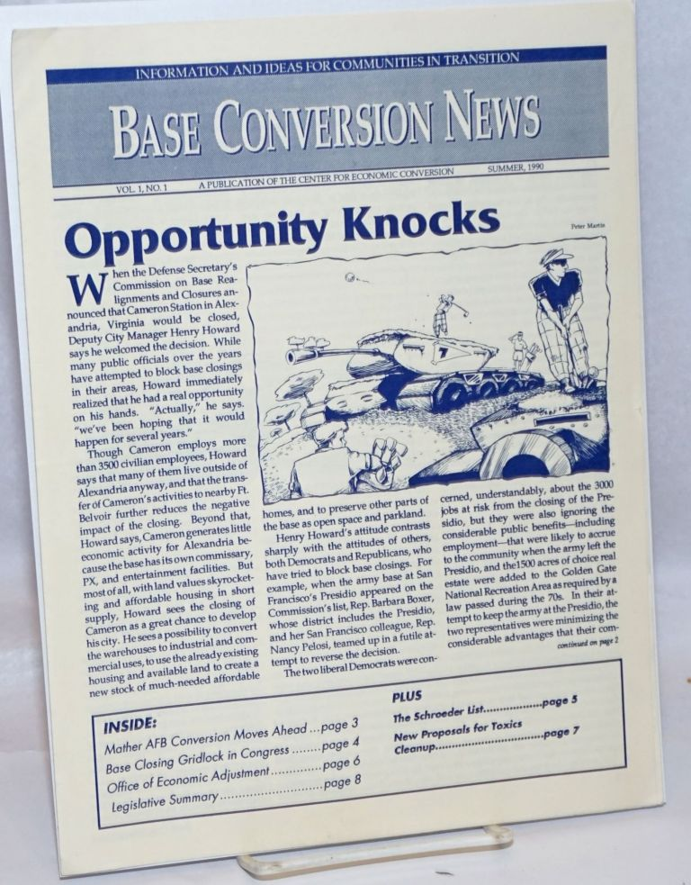 Base conversion news. Vol. 1 no. 1 (Summer, 1990)