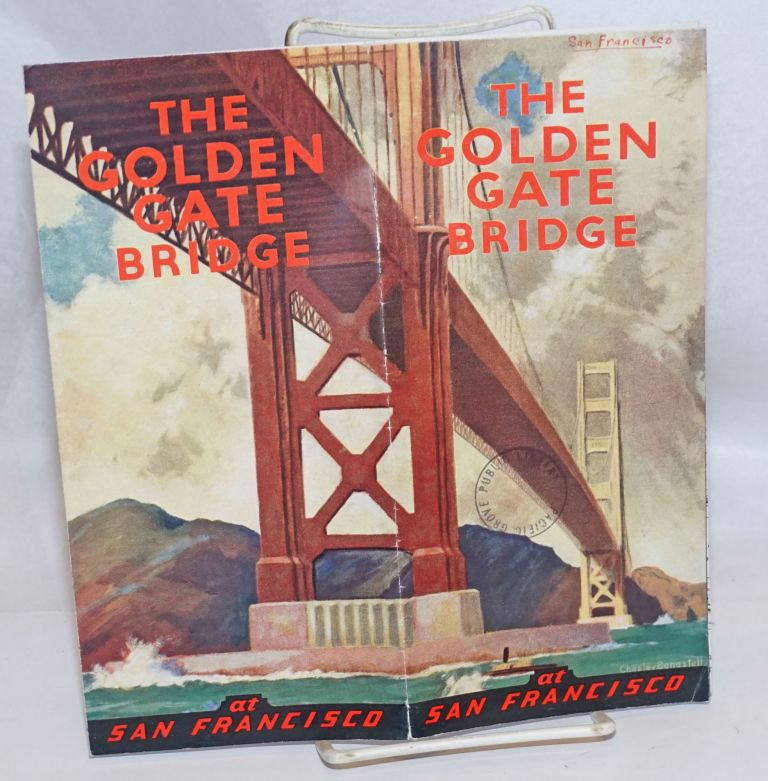 The Golden Gate Bridge at San Francisco. Chesley Bonestell, cover artist.