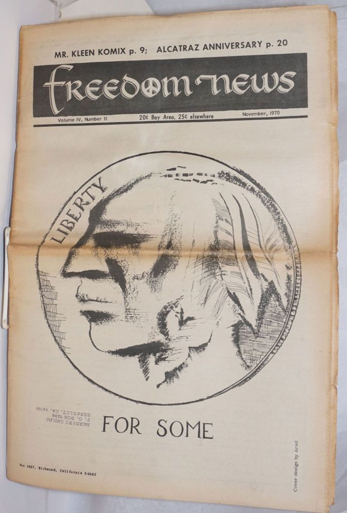 Freedom News, Vol. 4, No. 11, November 1970 advocating peace and human dignity - in our time