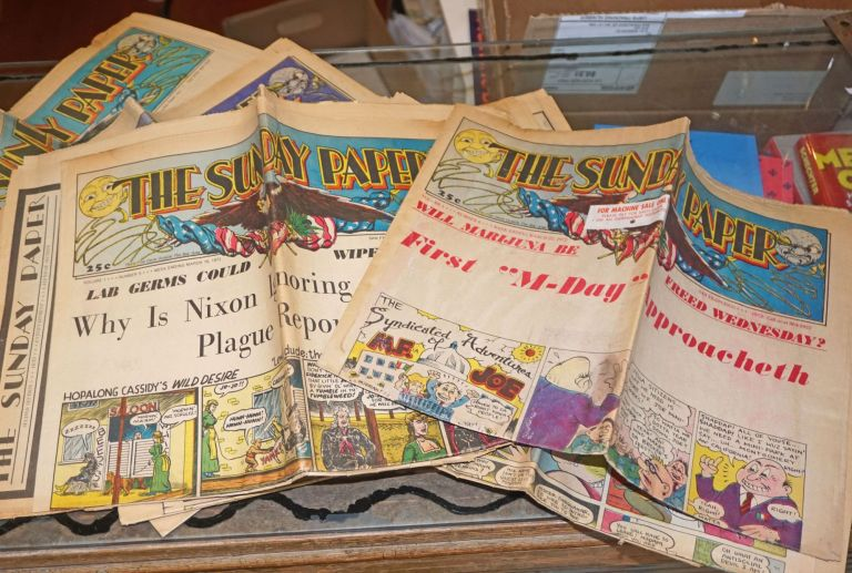 The Sunday Paper, Vol. 1, Nos. 1-6. Feb.-Mar. 1972 [six issues]. John Bryan.