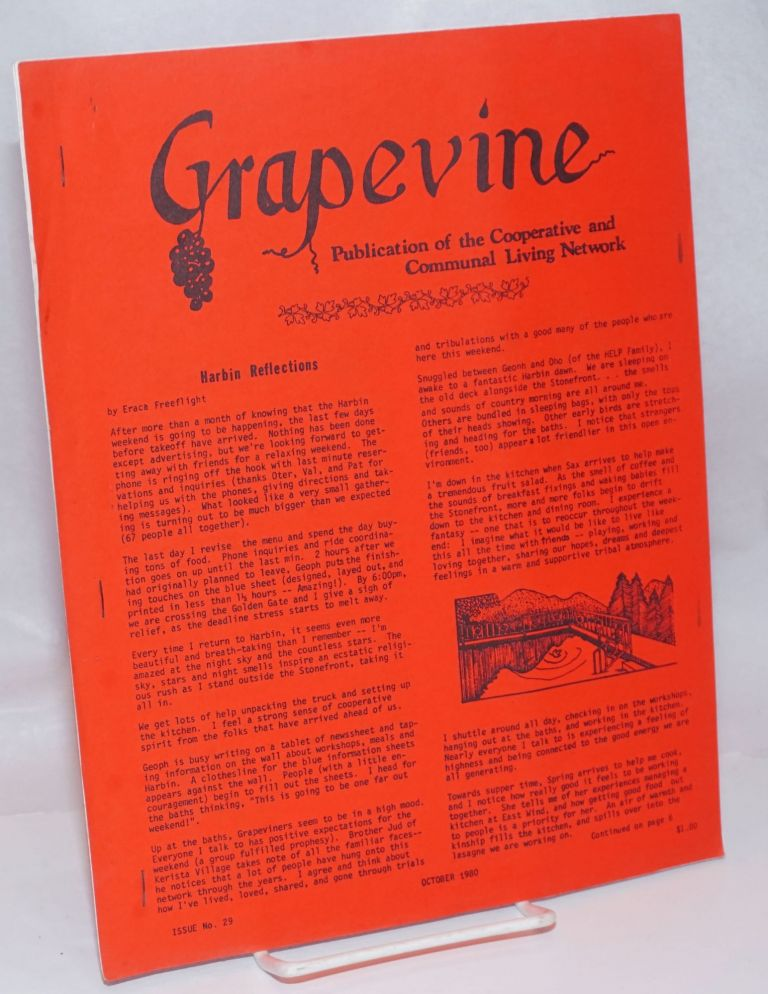 [Bay Area] Grapevine: Issue 29, October 1980 publication of the Collective, Communal and Cooperative Network.