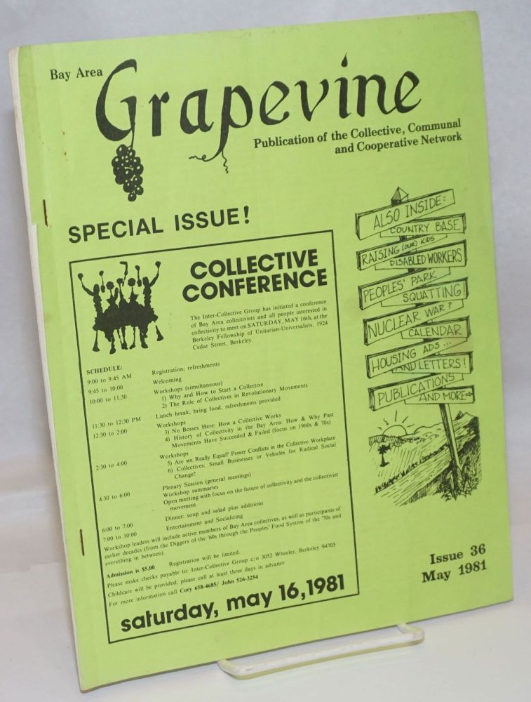 Bay Area Grapevine: Issue 36 (May 1981) publication of the Collective, Communal and Cooperative Network.