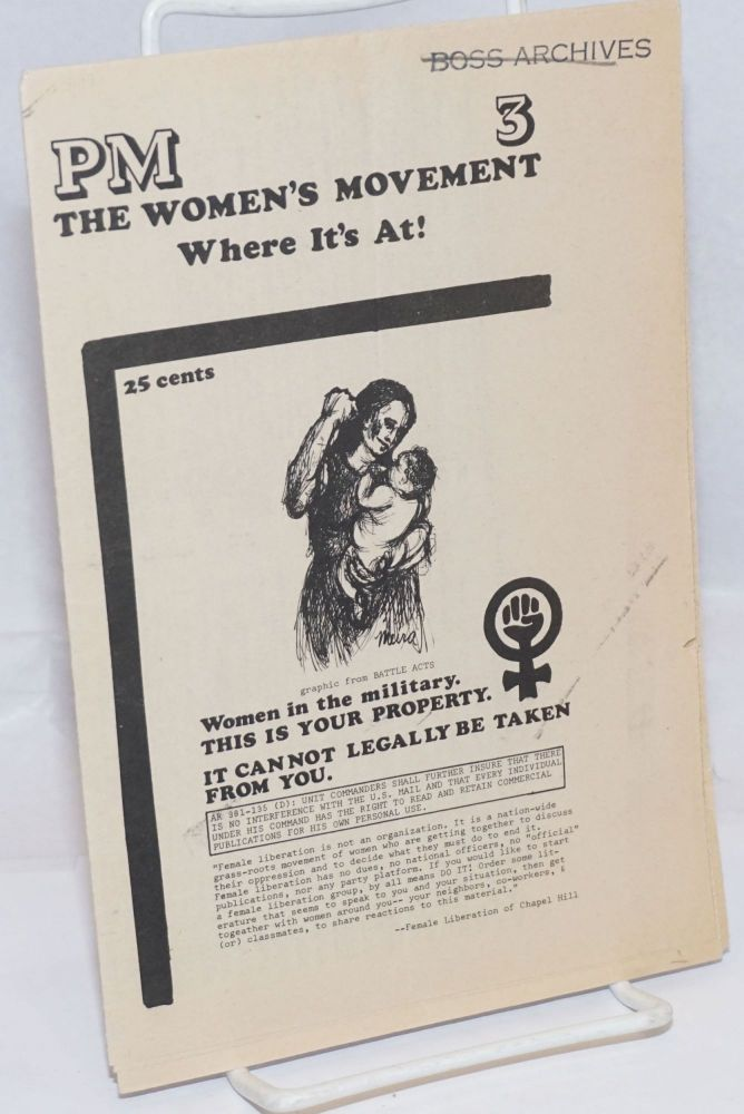 PM no. 3. The women's movement: where it's at!