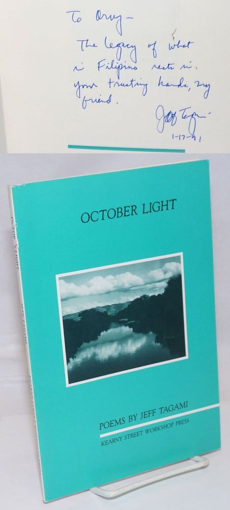 October Light: poems. Jeff Tagami.