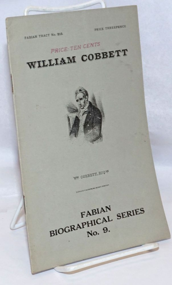 William Cobbett. G. D. H. Cole.