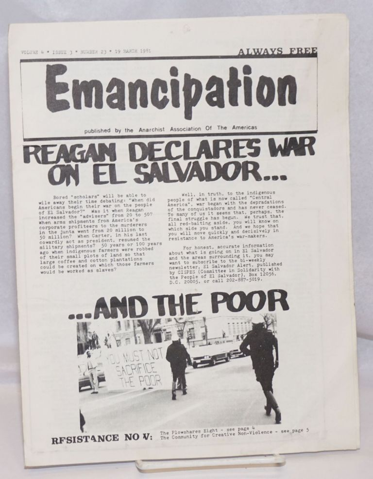 Emancipation: formerly the Anarchy Times; Vol.4, No. 3, (No. 23), 19 March 1981