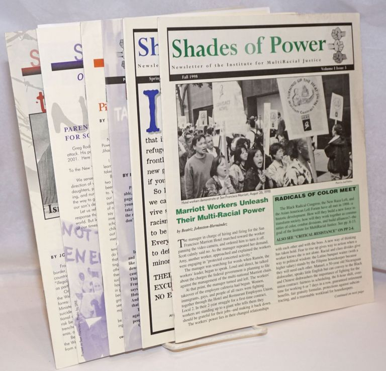 Shades of power: newsletter of the Institute for Multiracial Justice [six issues
