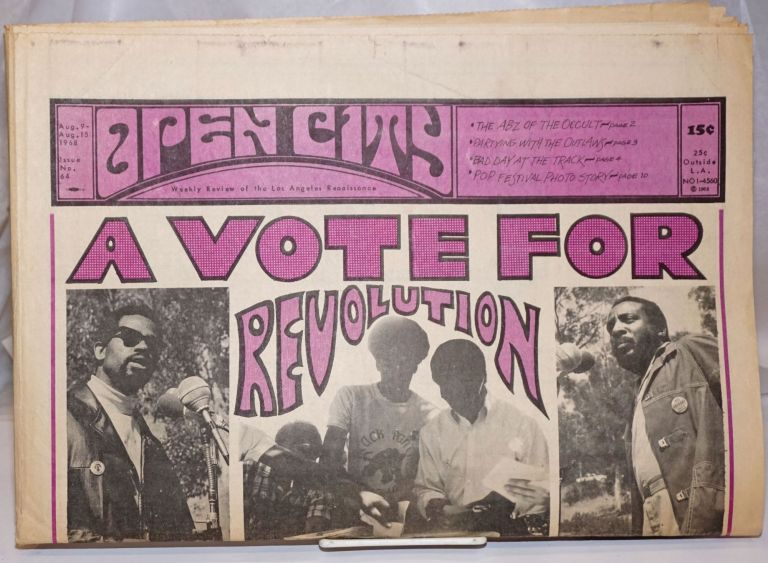Open City; No. 64, Aug. 9-15 1968 Weekly Review of the Los Angeles Renaissance. John Bryan.