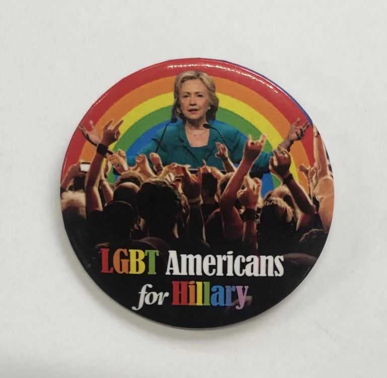 LGBT Americans for Hillary [pinback button]