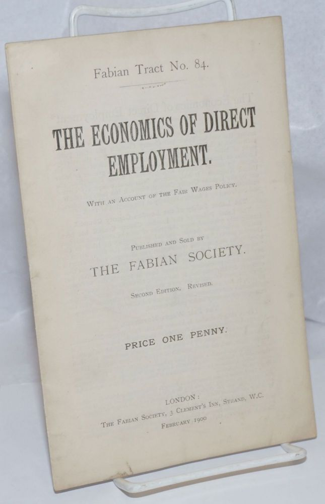The economics of direct employment. With an account of the Fair Wages Policy.