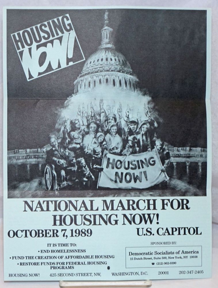 National march for housing now! October 7, 1989. US Capitol [handbill]