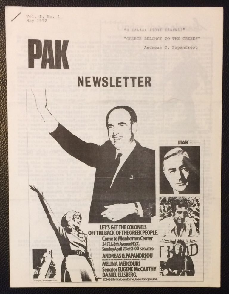 PAK newsletter. Vol. 1 no. 4 (May 1972)