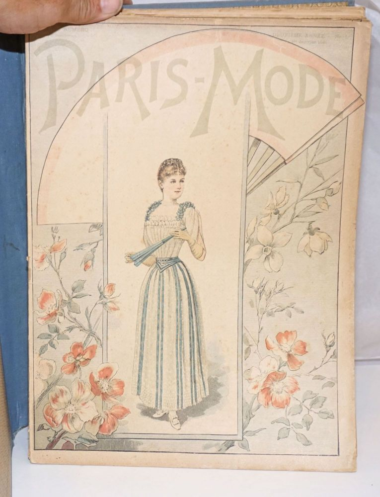 Paris-Mode, Journal de la Famille, paraissant le 5 et le 20 de chacque mois [earlier issues read le 1er et le 15 de chaque mois]. Second year, nos. 1-24, January 1 - December 20, 1891. Ludovic Baschet, editeur.