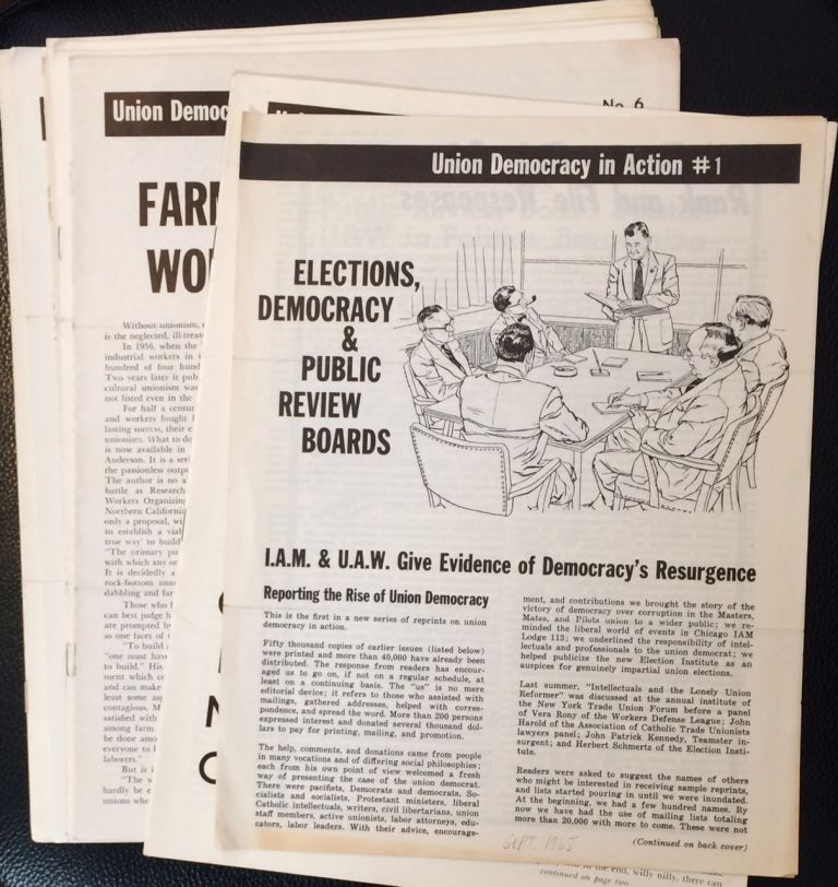 Union democracy in action [twelve issues]