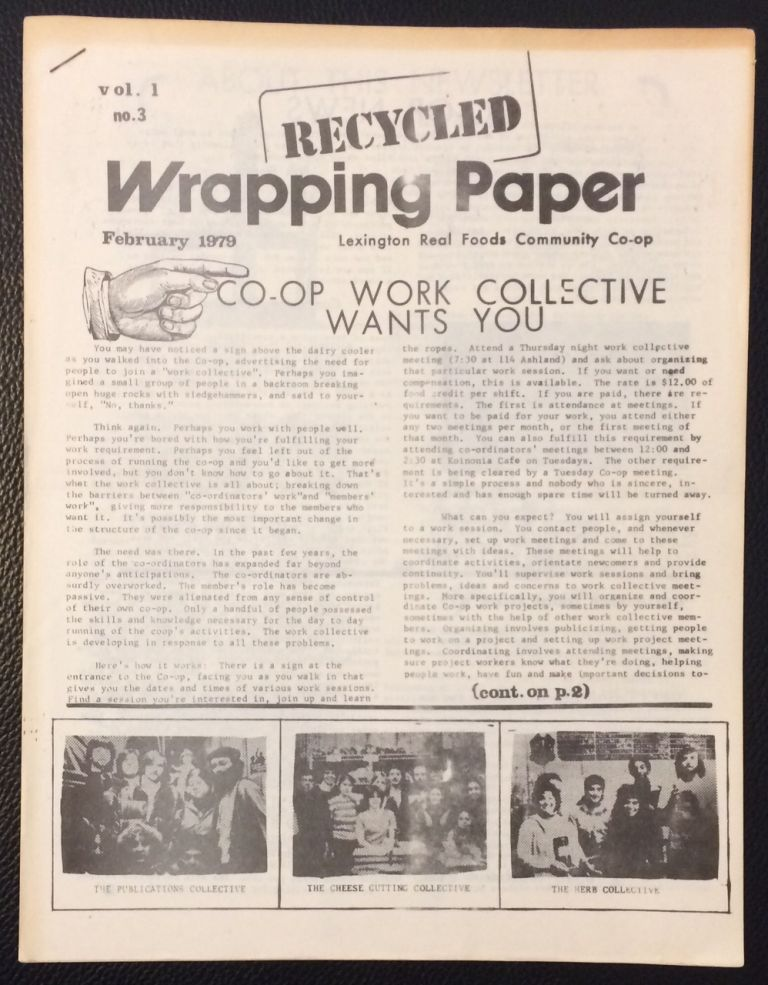 Recycled Wrapping Paper: vol. 1 no. 3 (February 1979)