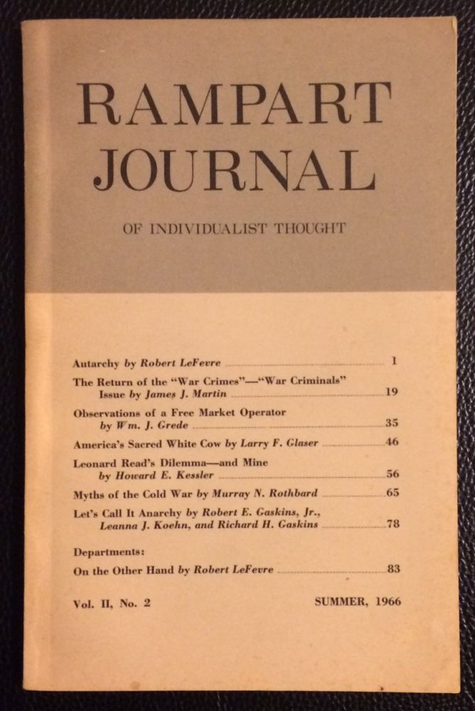 Rampart Journal of Individualist Thought. Vol. 2 no. 2 (Summer 1966)