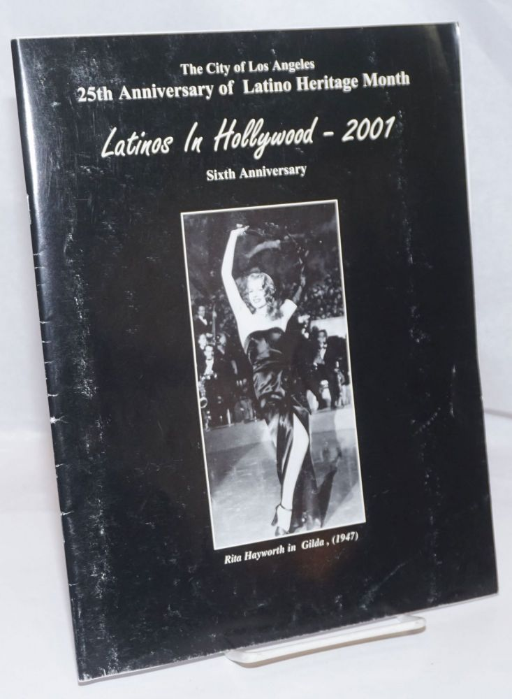 """The City of Los Angeles proudly presents the Sixth Annual """"Latinos in Hollywood"""" a photographic exhibition [souvenir program]. Barbara Carrera."""