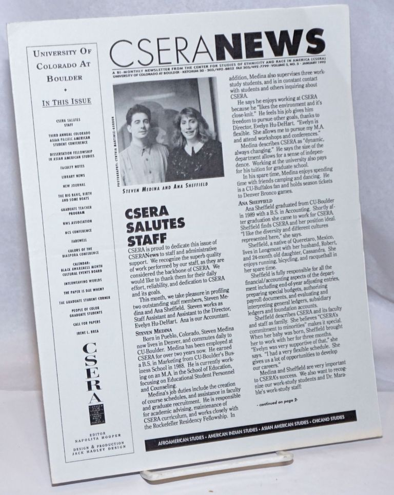 CSERA News: A bi-monthly newsletter from the Center for Studies