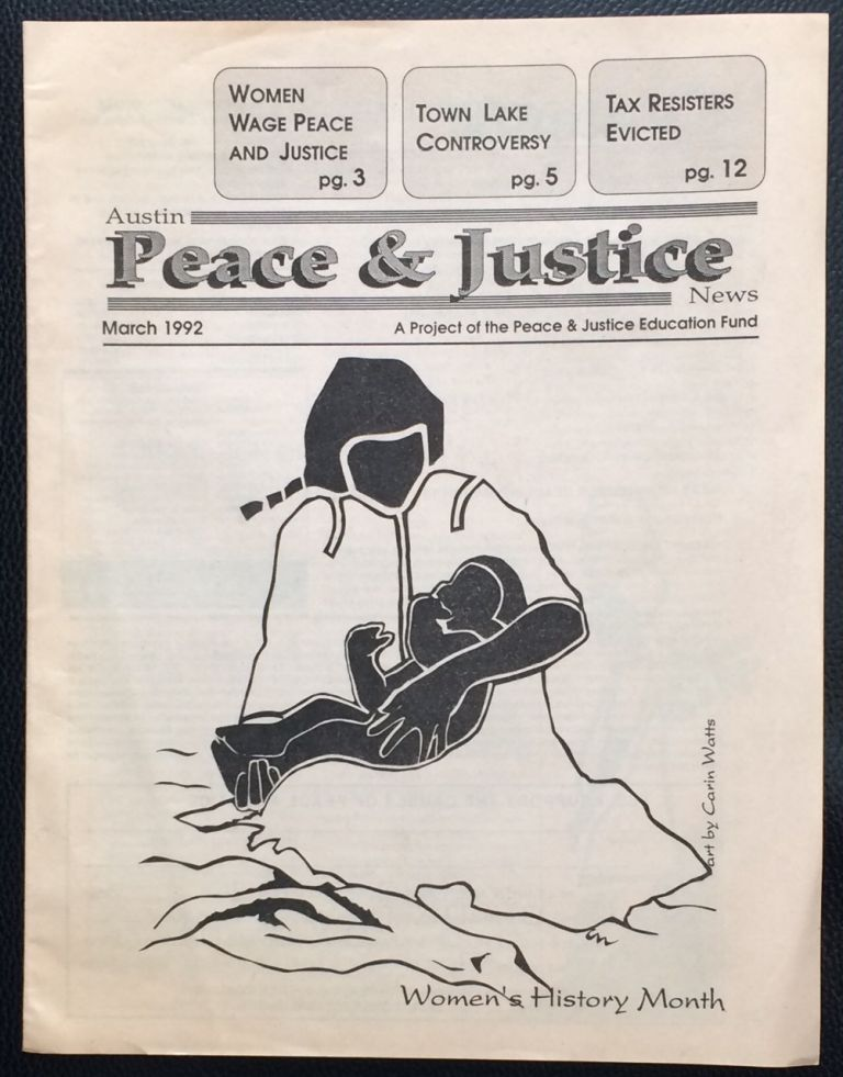 Austin Peace and Justice News. March 1992