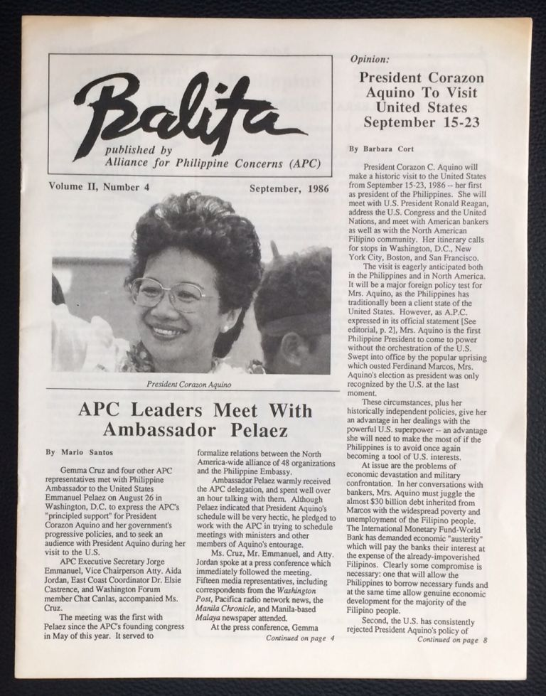 Balita. Vol. 2 no. 4 (Sept. 1986)