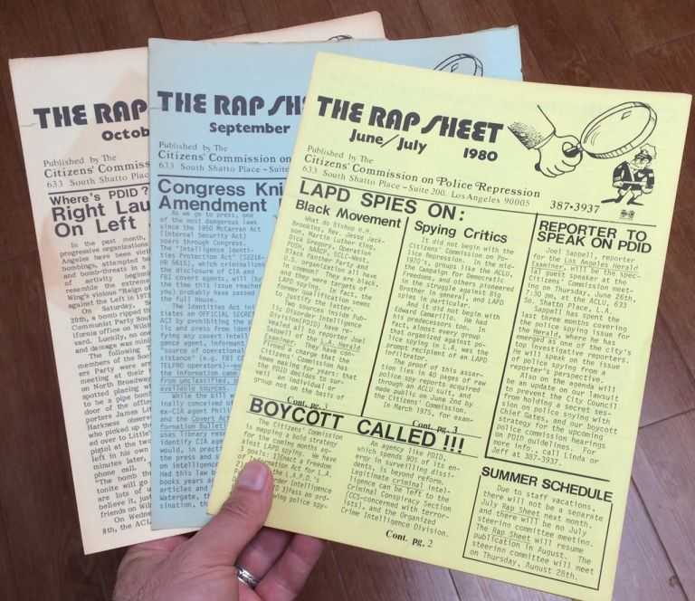 The Rap Sheet [three issues: June/July, September, October 1980]