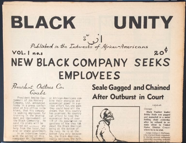 Black Unity. Vol. 1 no. 1
