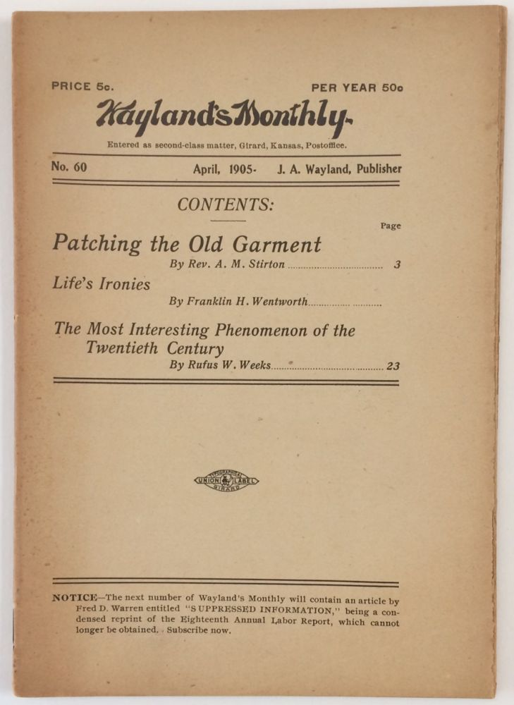 Wayland's Monthly, no. 60. (April 1905)