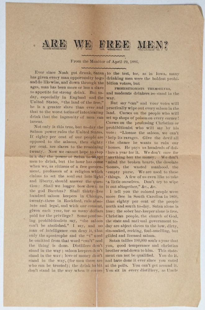 Are we free men? From the Monitor of April 29, 1886 [leaflet]