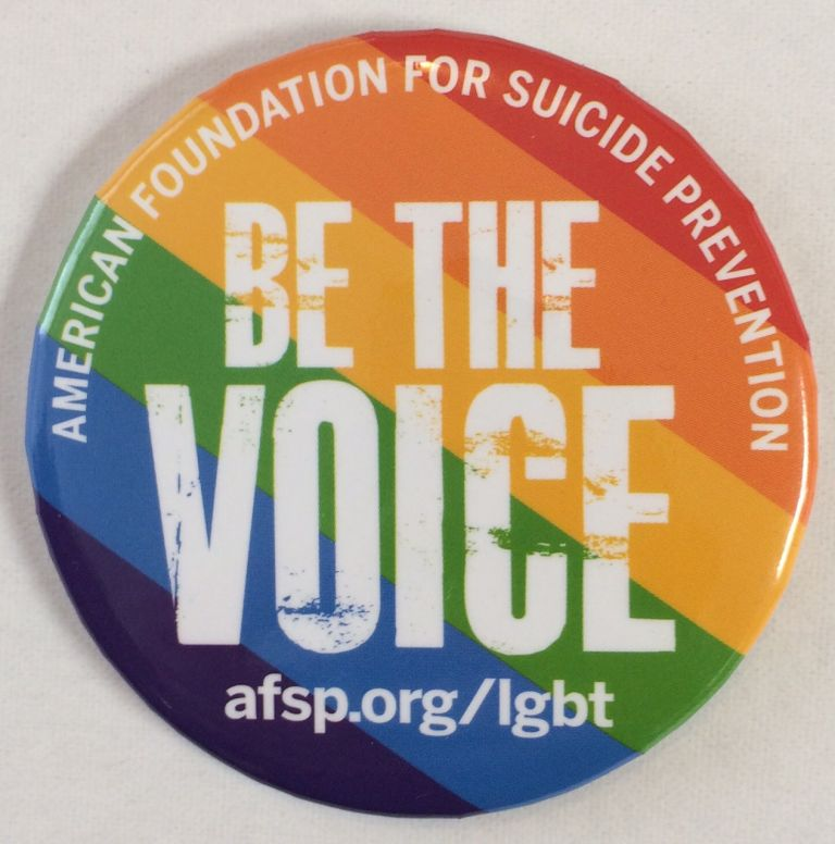 American Foundation for Suicide Prevention / Be the Voice [pinback button]