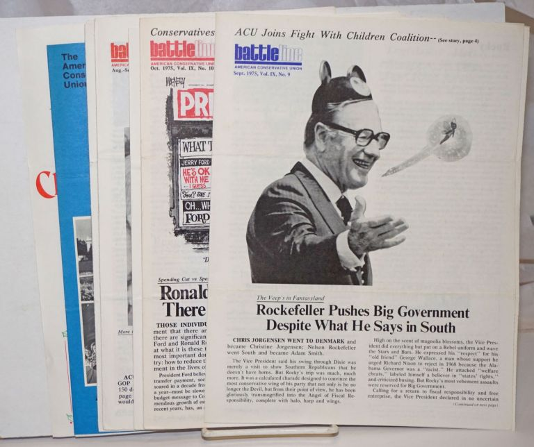 Battleline [5 issues, plus a subscription form and annual report for 1975]. John D. Lofton, Jr.