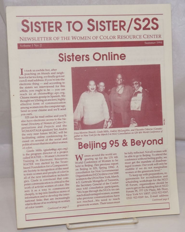 Sister to Sister / S2S: Newsletter of the Women of Color Resource Center; Vol. 1 No. 2, Summer 1994