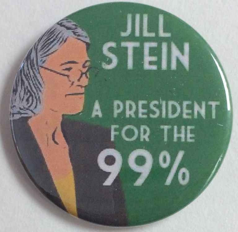 Jill Stein / A president for the 99% [pinback button]