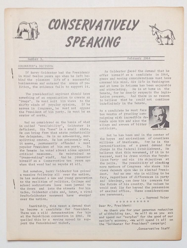 Conservatively Speaking. No. 3 (Feb. 1964