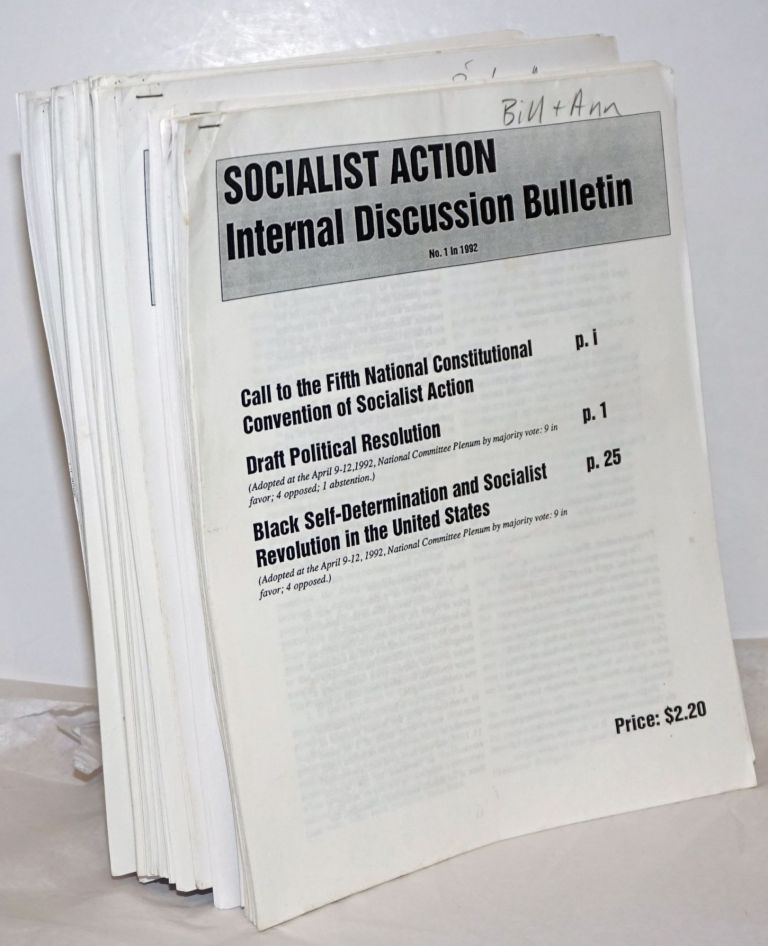 Socialist Action Internal Discussion Bulletin. [21 issues]. Socialist Action.