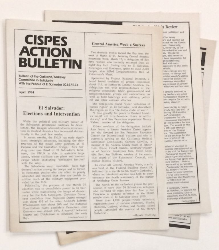 CISPES Action Bulletin [four issues]