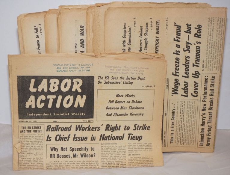 Labor Action 23 Issues Independent Socialist Weekly Mary Bell Max Shachtman Eds Hal Draper