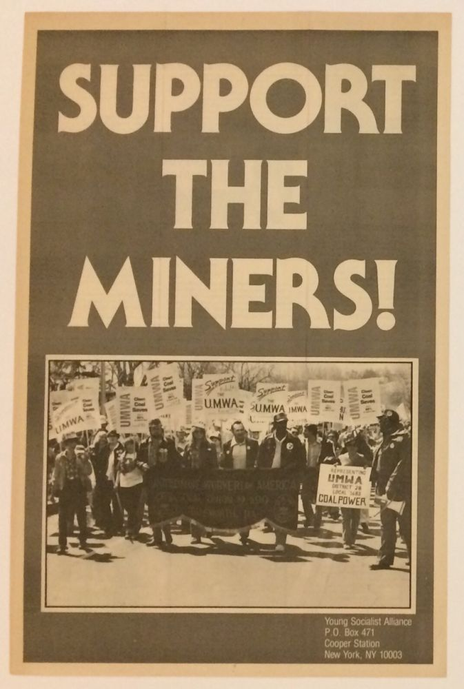 Support the Miners [brochure unfolding to make a poster]