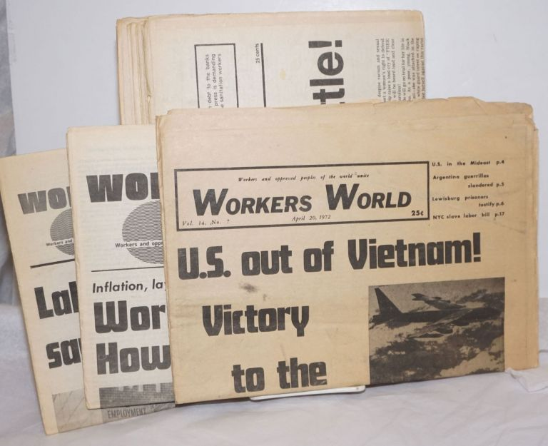 Workers World 1972-1977 11 issues. Vince Copeland Sam Marcy, eds.