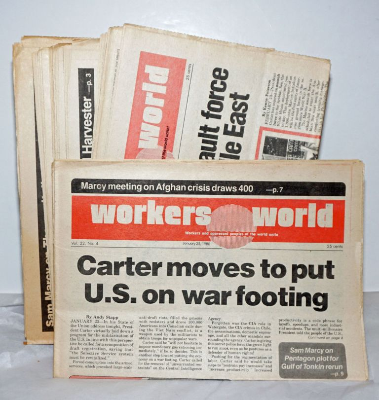 Workers World 1980 15 issues. Vince Copeland Sam Marcy, eds.