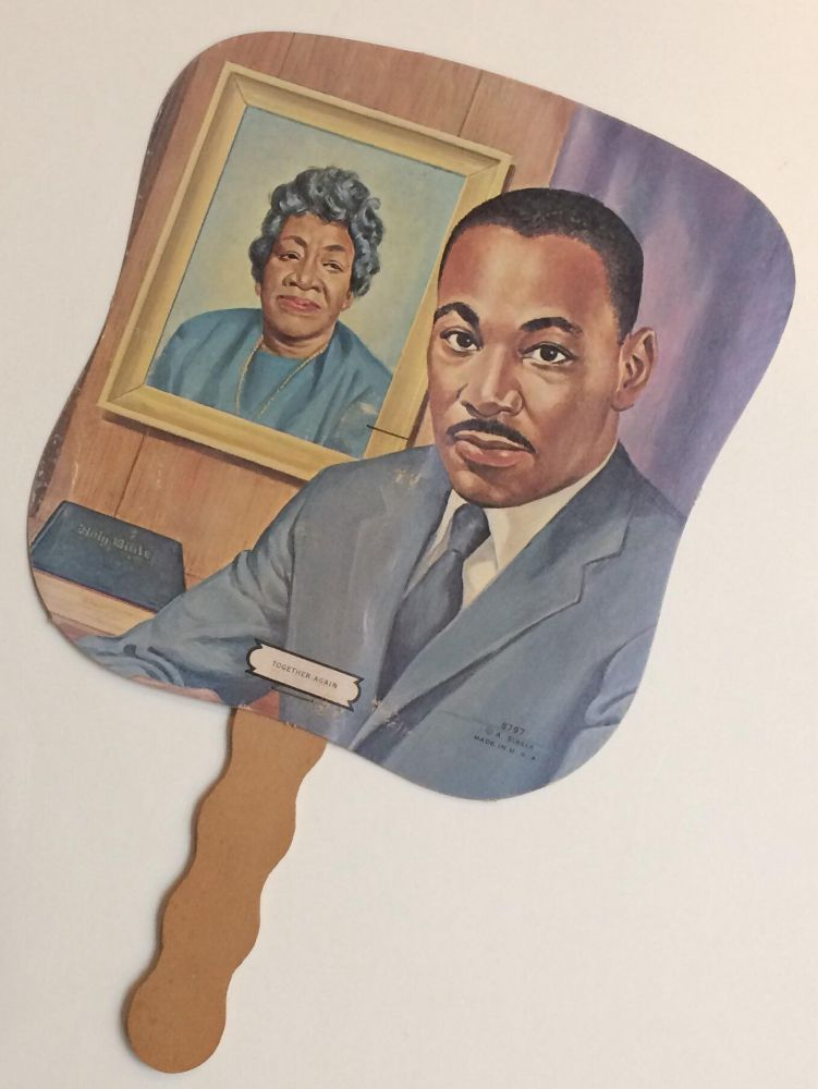 Together Again [funeral fan with portraits of Martin Luther King, Jr. and his mother, Alberta Williams King]